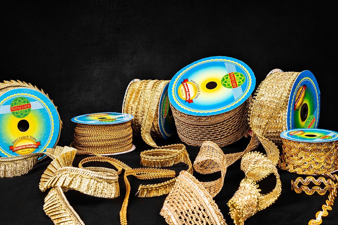Antique Gold Laces - Romy Lace - Best Lace Manufacturer in Surat, India