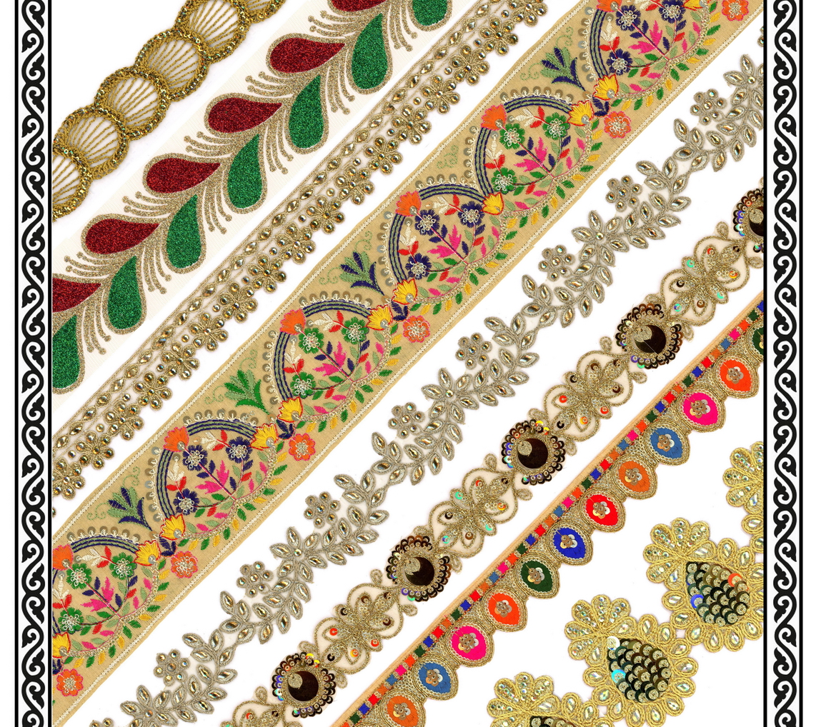Embroidery Laces & Borders - Romy Lace - Best Lace Manufacturer in Surat, India