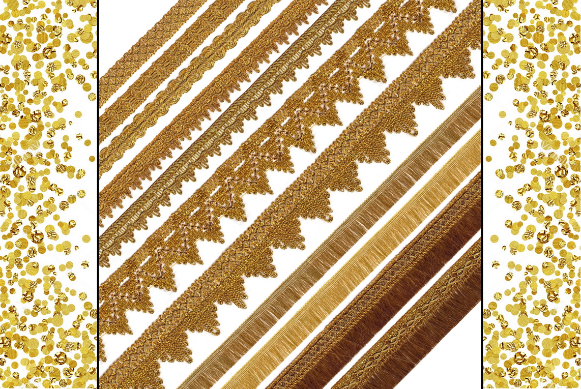 Gold Trims & Metallic Fringes - Romy Lace - Best Lace Manufacturer in Surat, India