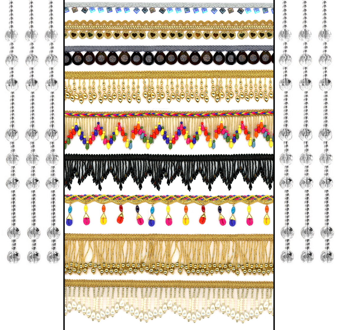 Latkan & Hangings Laces - Romy Lace - Best Lace Manufacturer in Surat, India